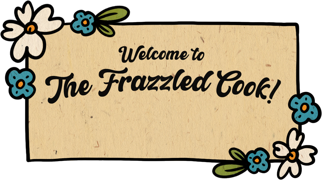 Wooden sign; Says: Welcome to The Frazzled Cook
